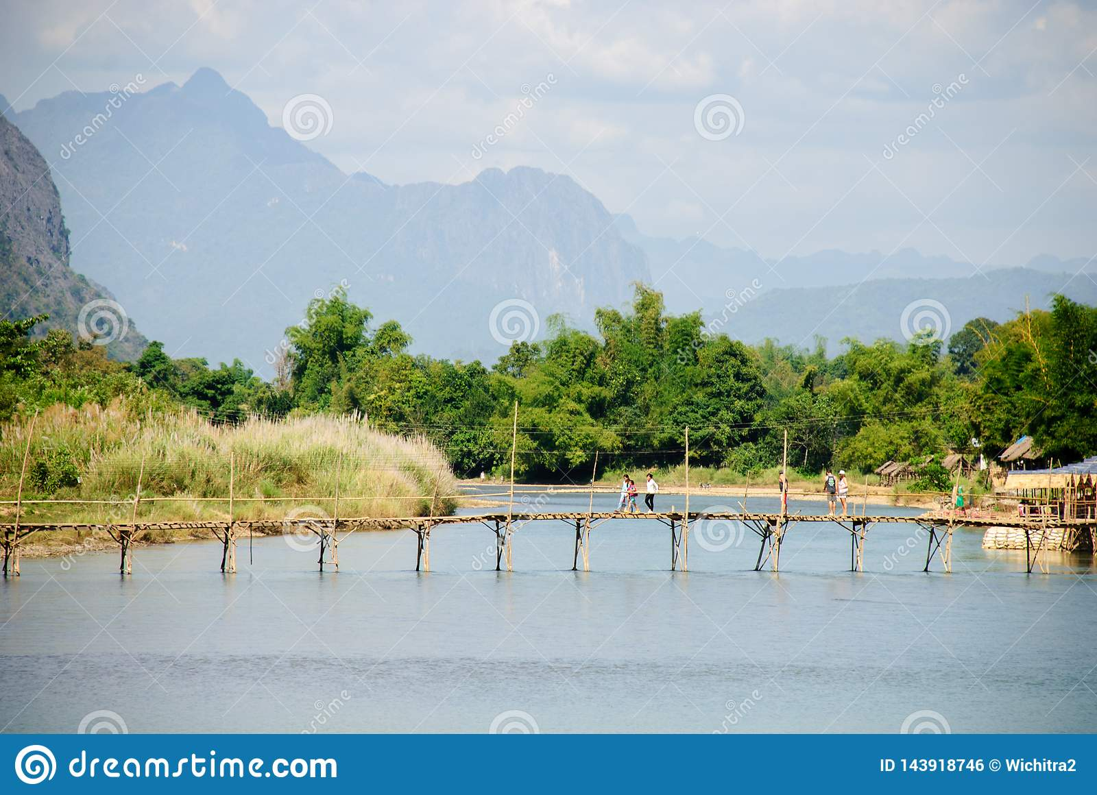 Nam Song river at Vang Vieng, Laos