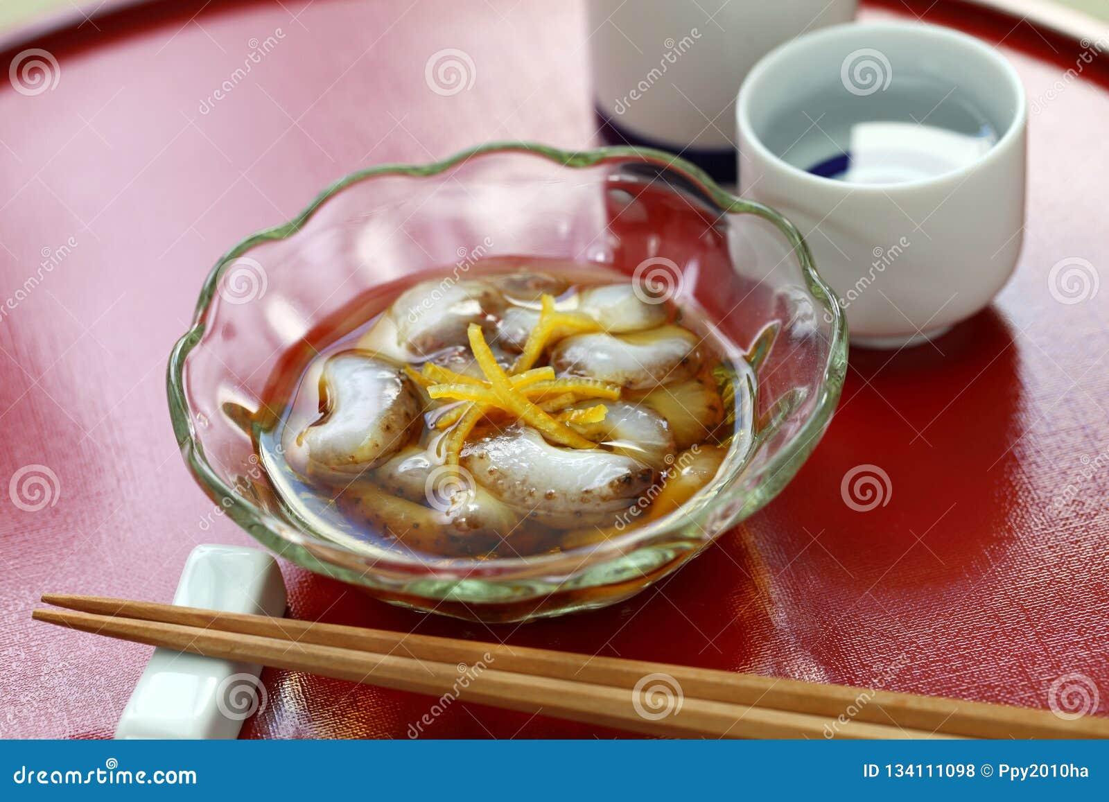Namako vinegared japonês do pepino de mar nenhum sunomono