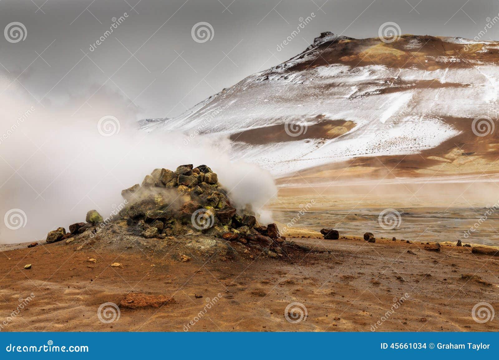Namaskard geothermisch actief vulkanisch gebied