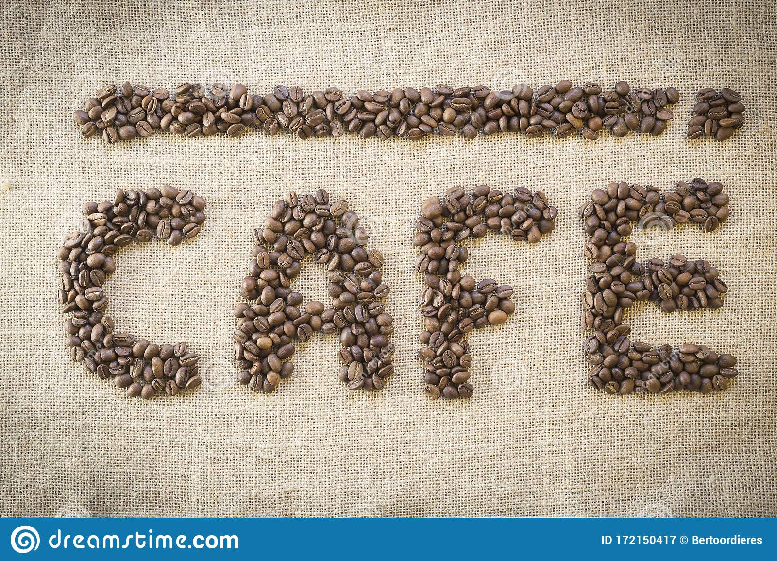 Name Cafe Made from Coffee Beans Stock Image   Image of coffee ...