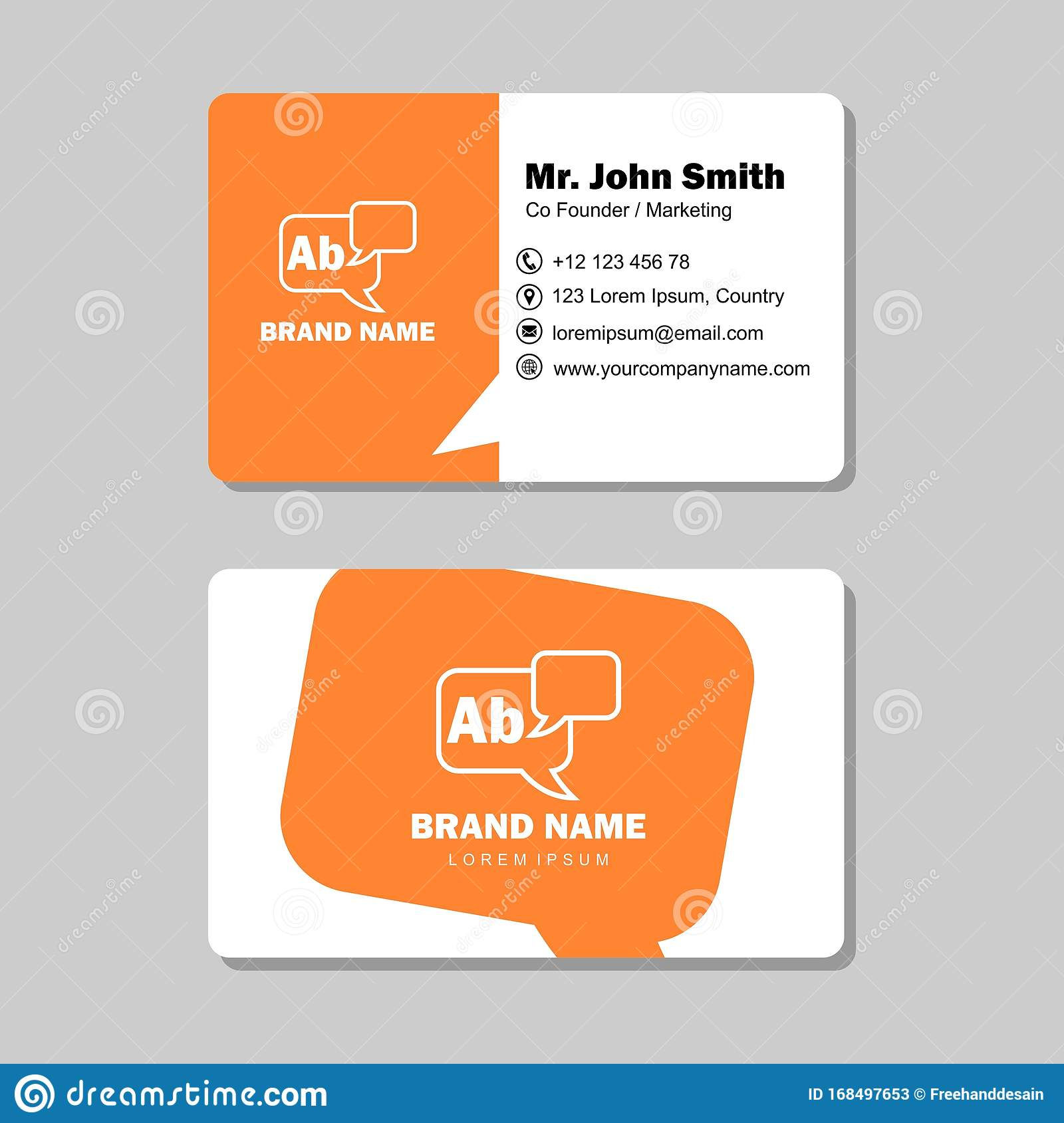 name card background design template with isolated vector