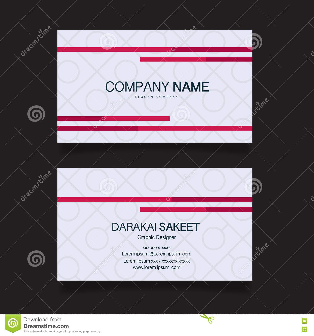 Name card modern simple business card template stock vector download comp colourmoves