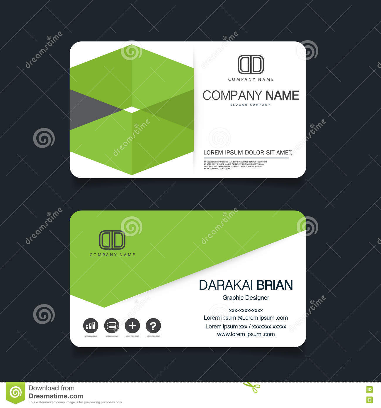 Name card modern simple business card template vector illustration business card template name card modern simple business card template vector illustration wajeb Images