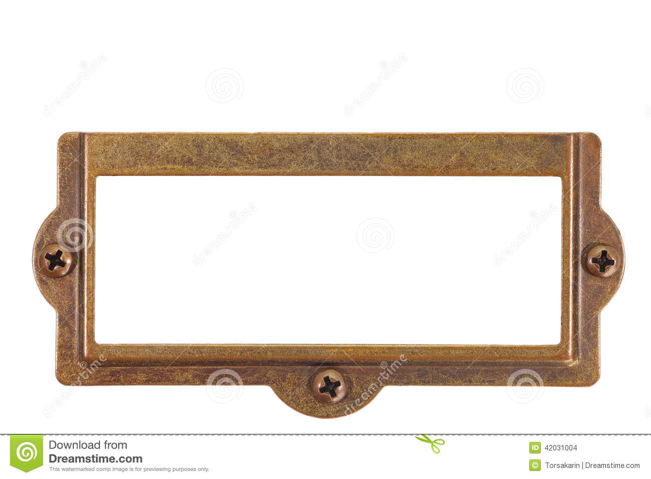 Name plate stock photo image of beige clipping plate for Classic house name plates