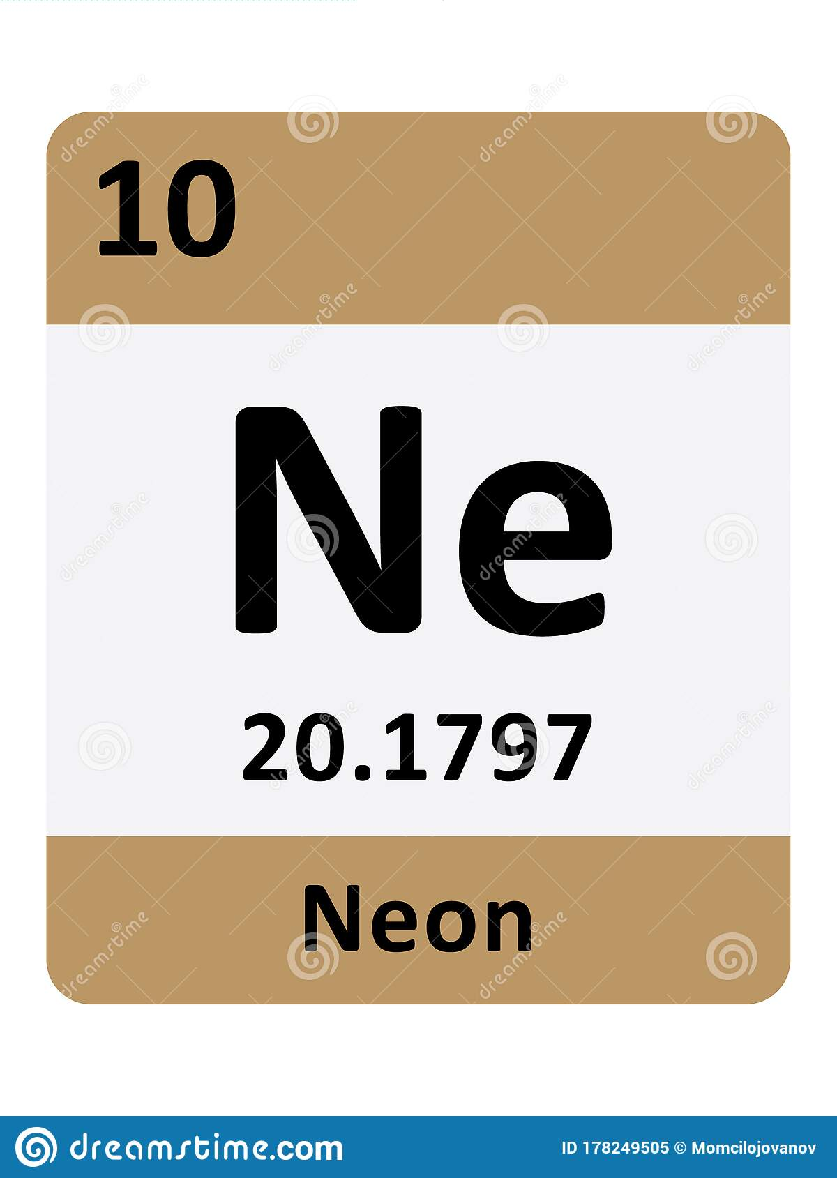 what is neons atomic number