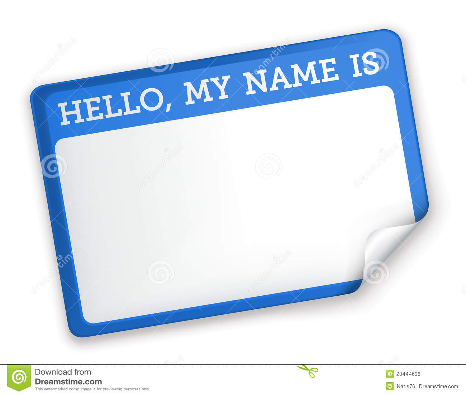 Name Tag Royalty Free Stock Image
