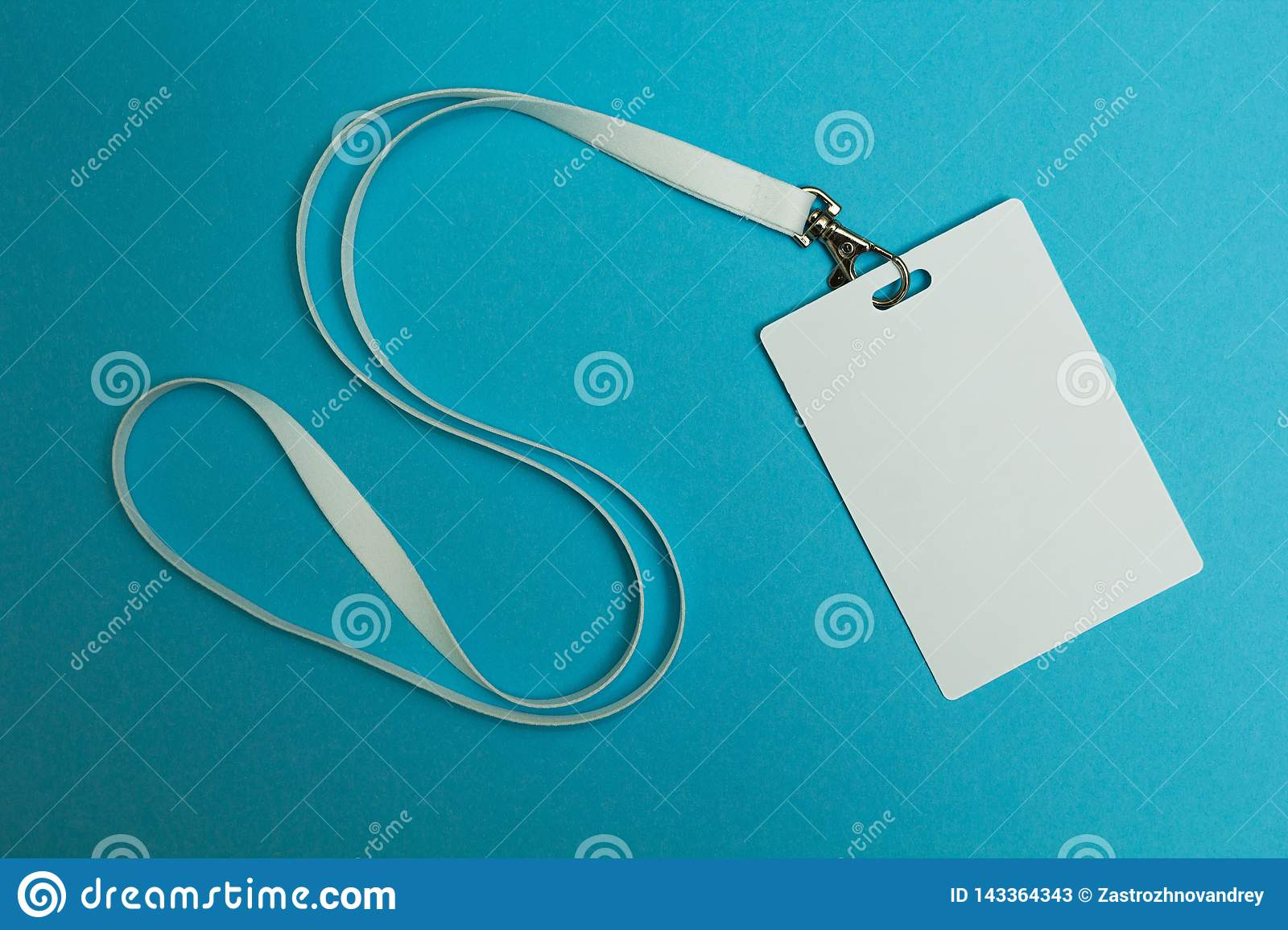 Name Tag with blue background