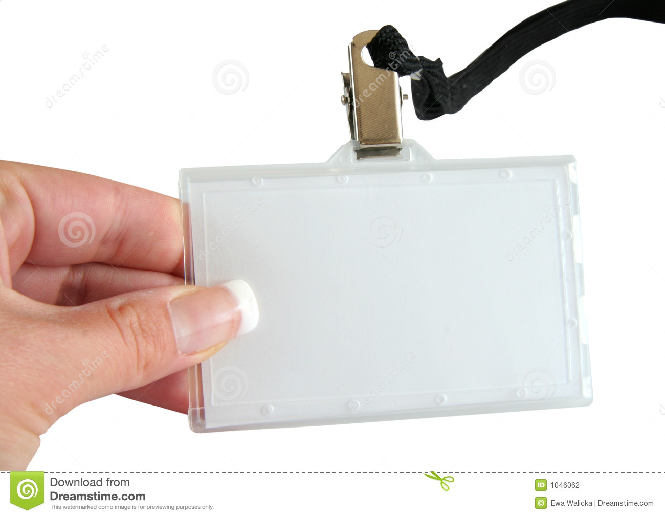Name Tag And Hand Stock Photography - Image: 1046062