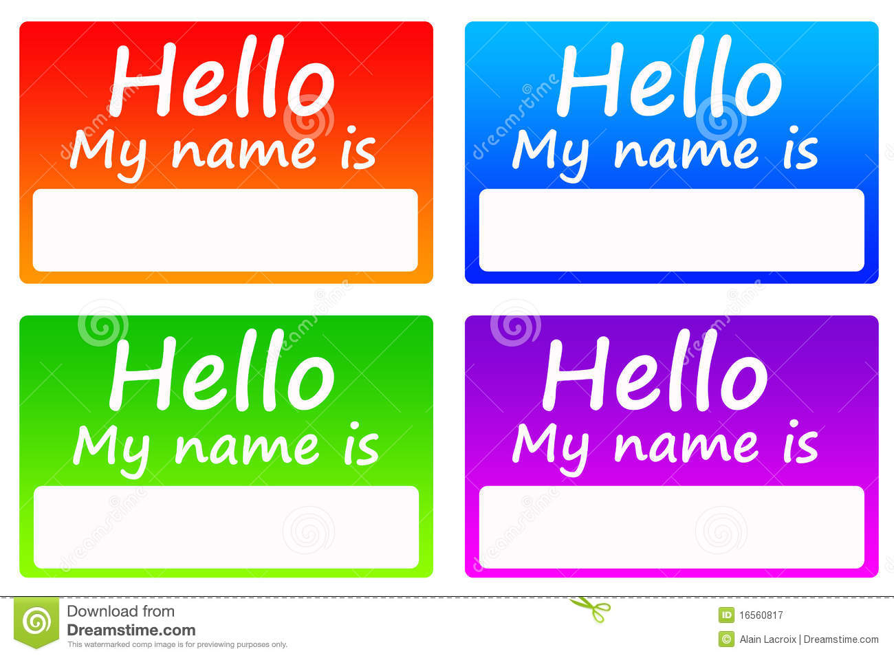 Name Tags Royalty Free Stock Photography - Image: 16560817