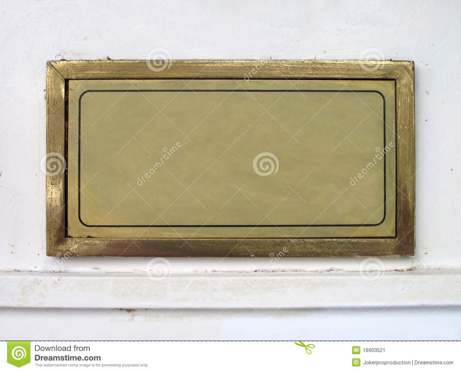 Download Nameplate stock image. Image of rectangular, design, facia - 16903521