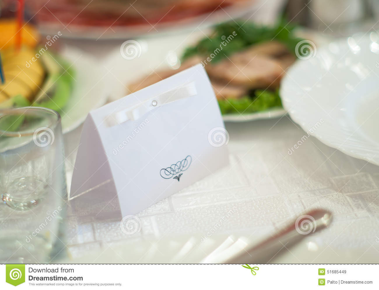 Nameplate On Wedding Stock Image Of Insignia Table