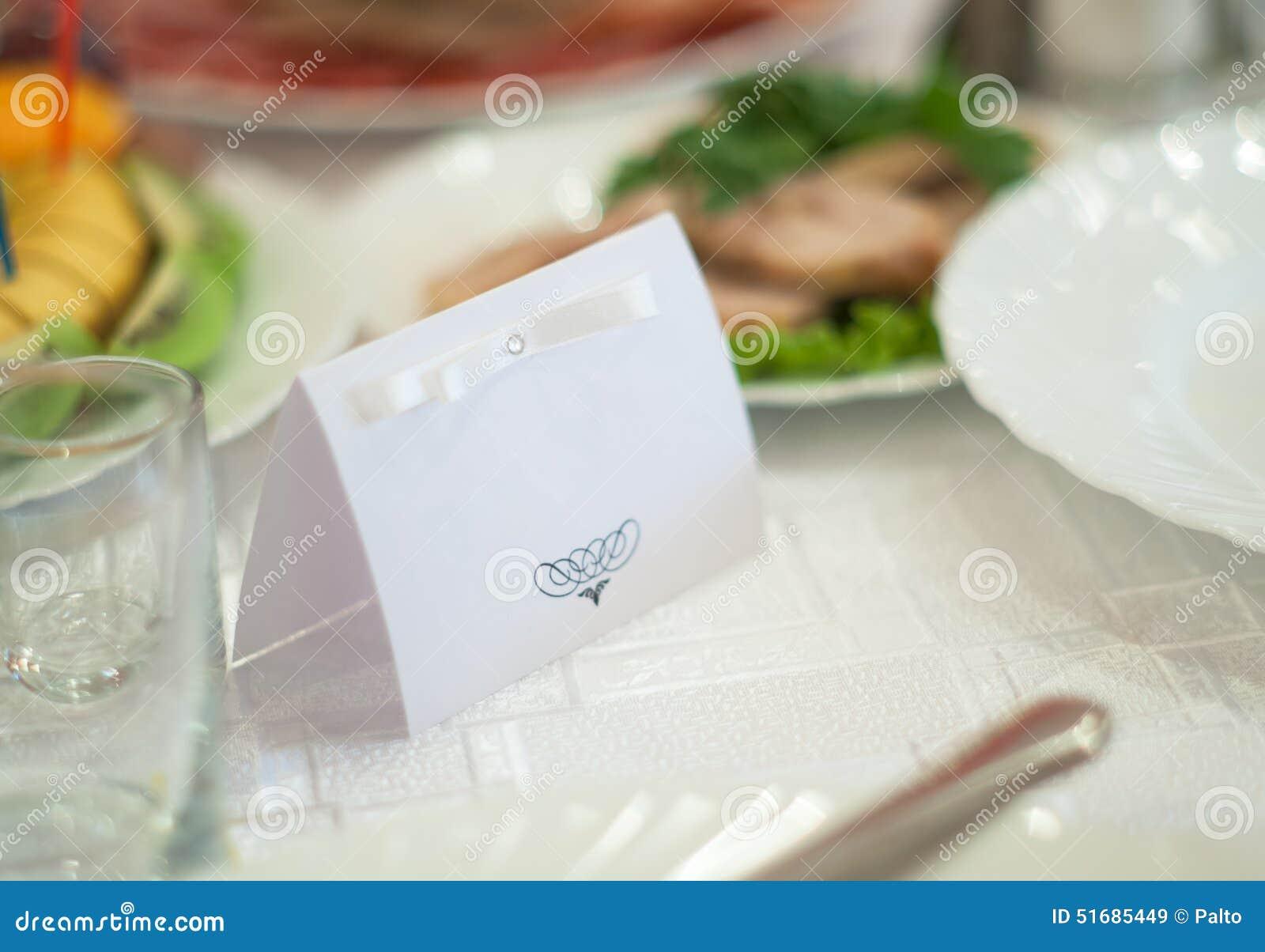 nameplate on wedding stock image image of insignia table 51685449