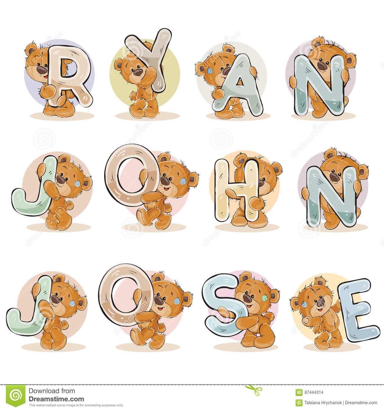Decorative Letters Names For Boys Ryan John Jose Made Decorative Letters With Teddy