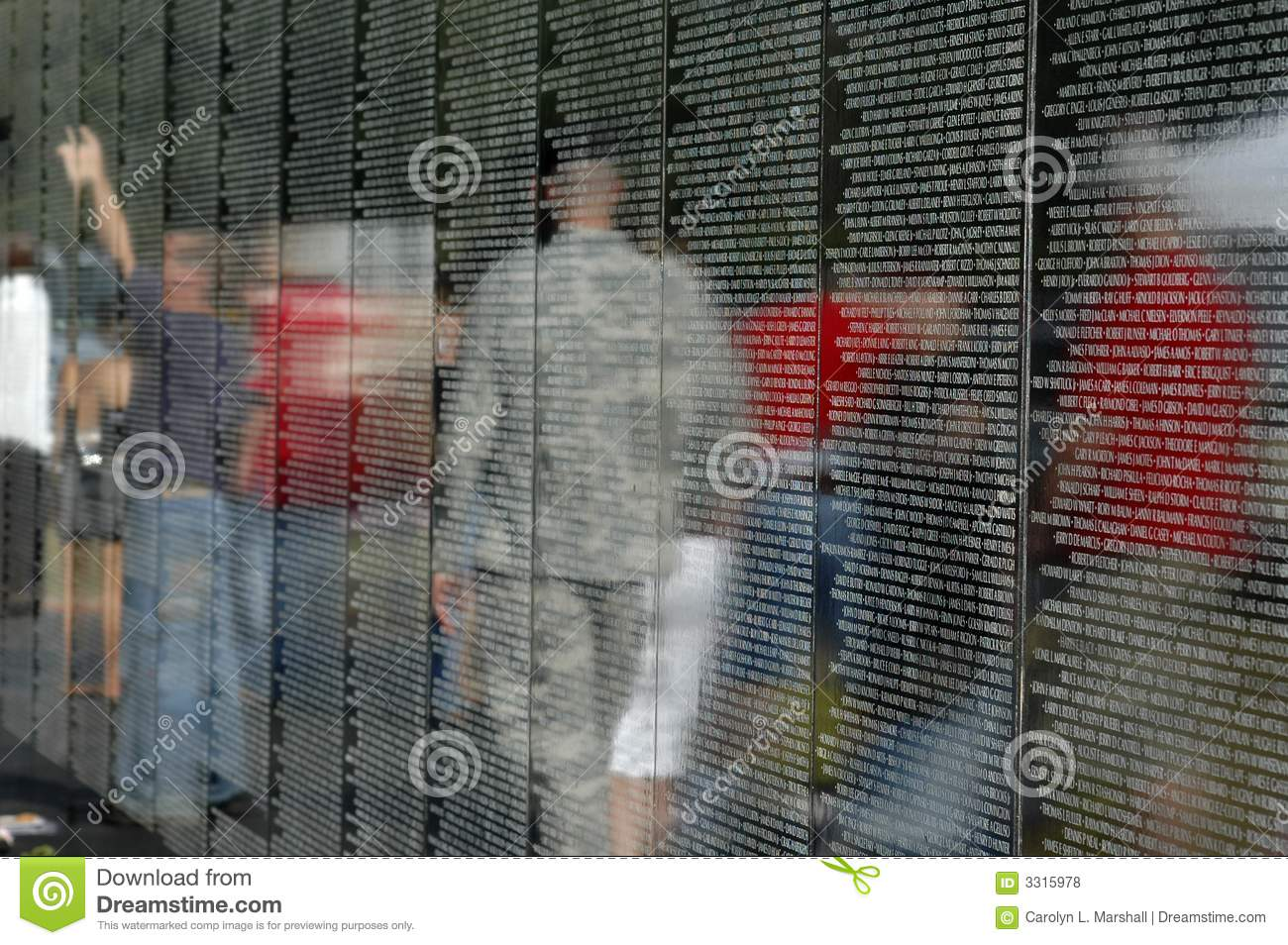 Names On Vietnam Wall Stock Photo Image Of Black Country
