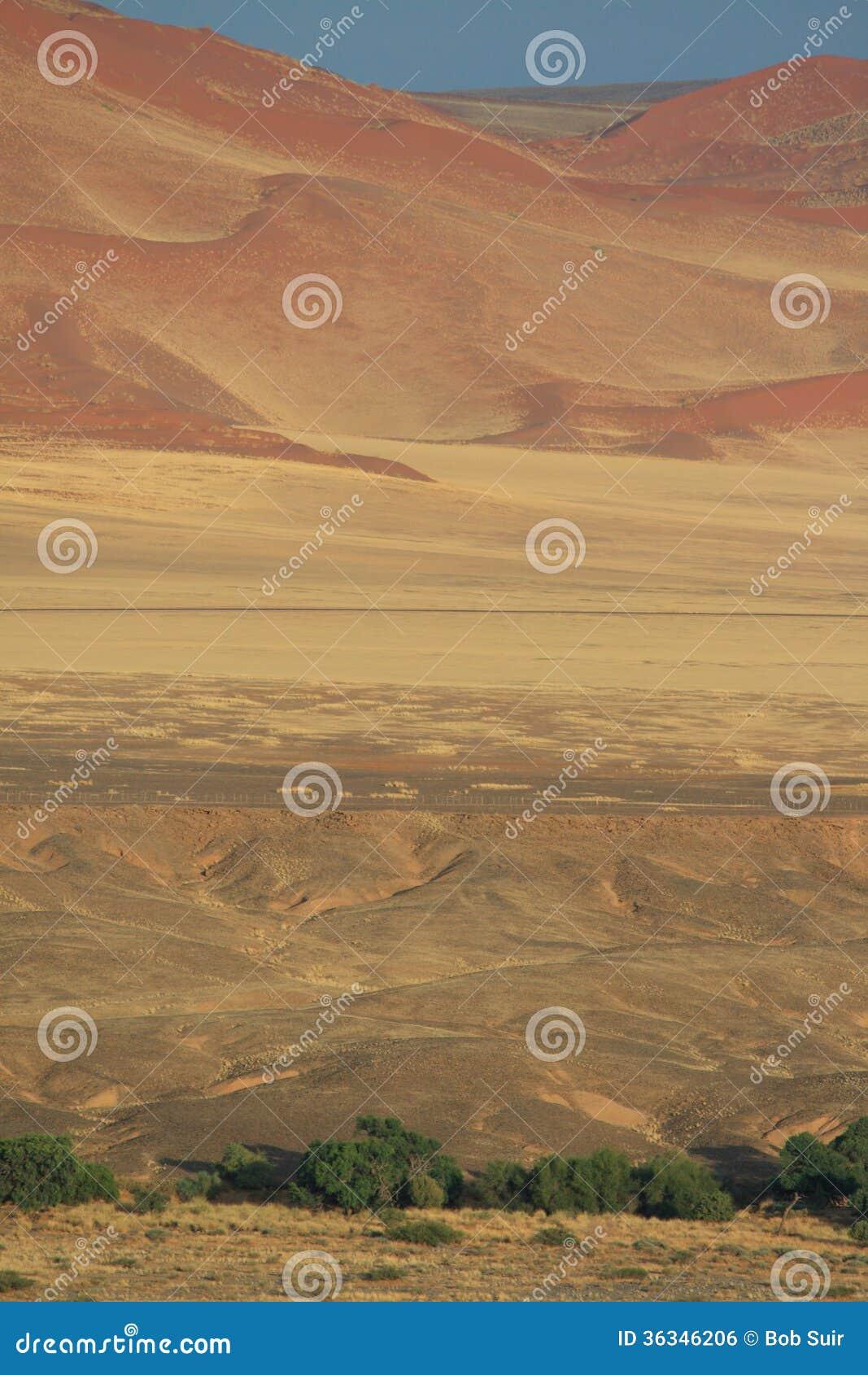 Namibian desert landscape dunes