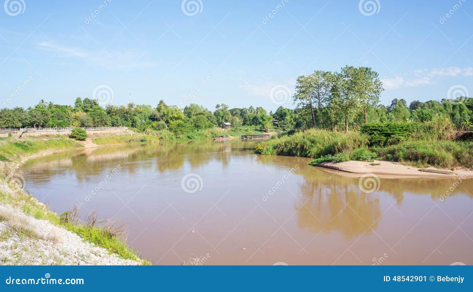 Nan River at Phitsanulok province, Thailand.