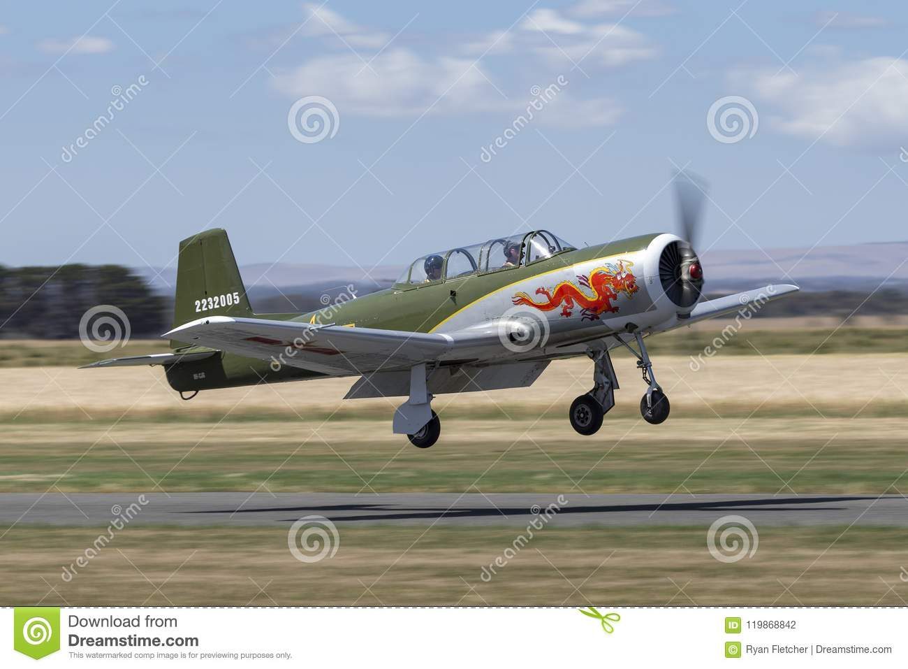 Nanchang CJ-6A Former Chinese Air Force Single Engine Trainer