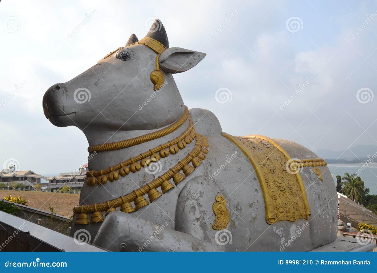 Nandi From Shiva Statue - Murudeshwar Stock Photo - Image of