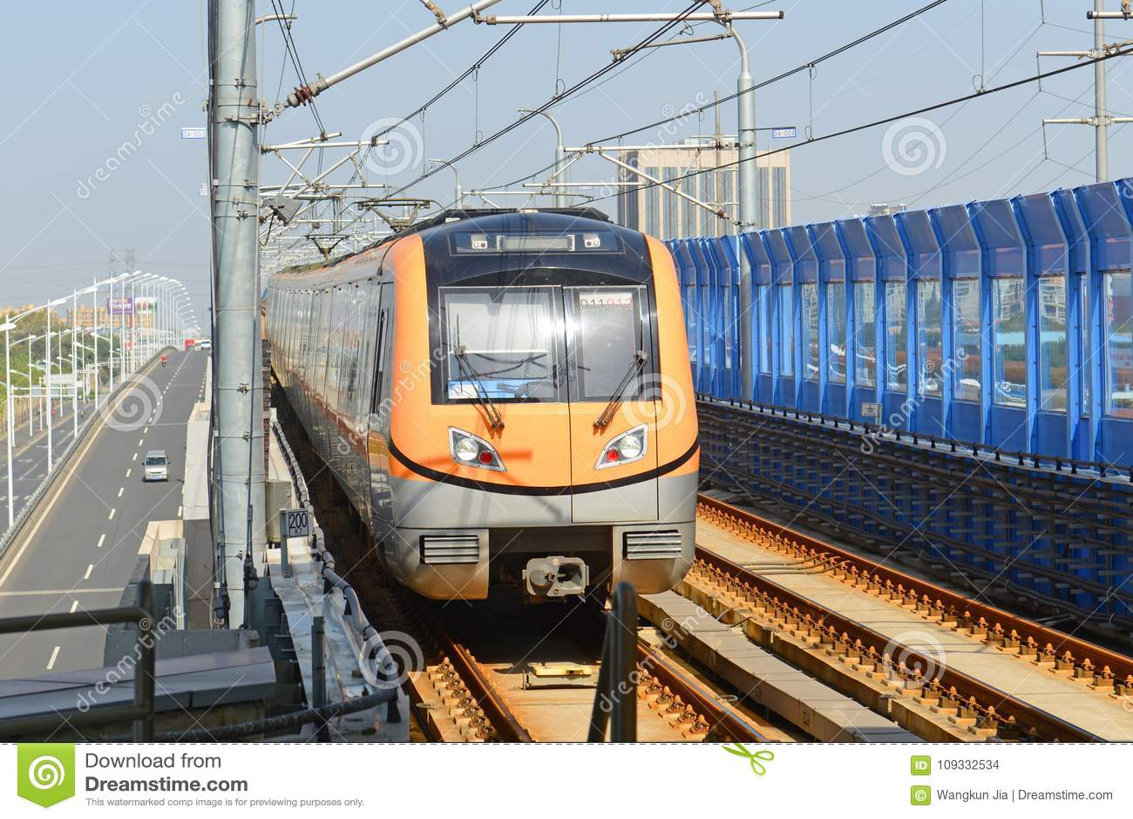Nanjing City Metro Line S8, China Stock Photo - Image of