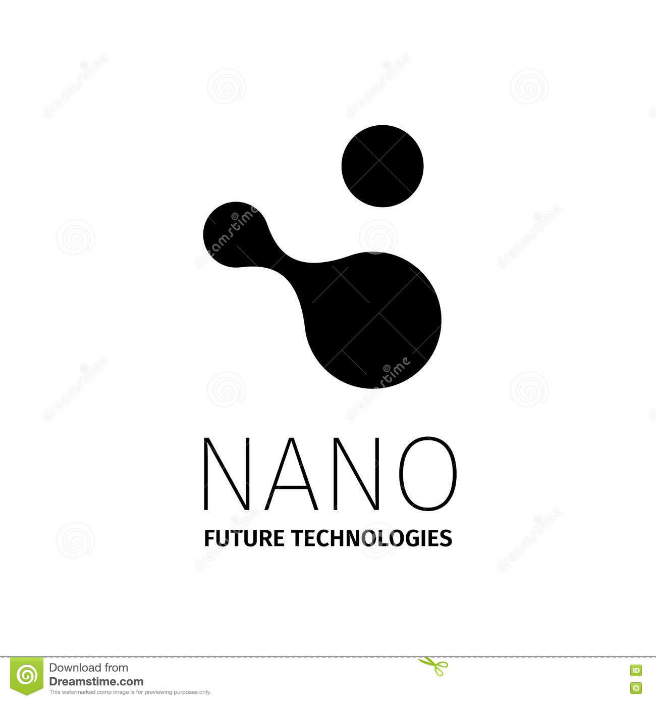 Nano Logo - Nanotechnology. Template Design Of Logotype. Vector ...