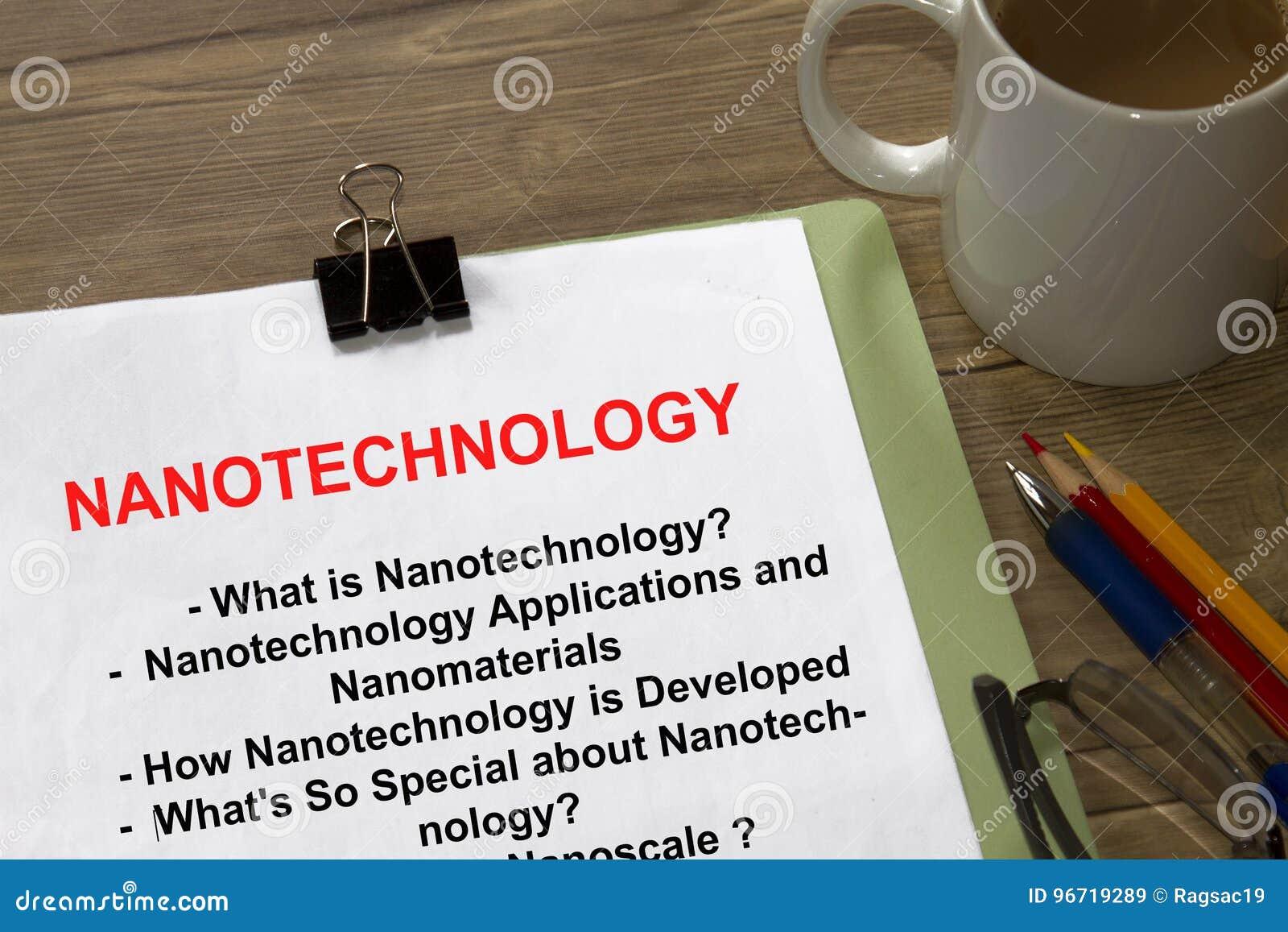 nanotechnology topics for paper presentation