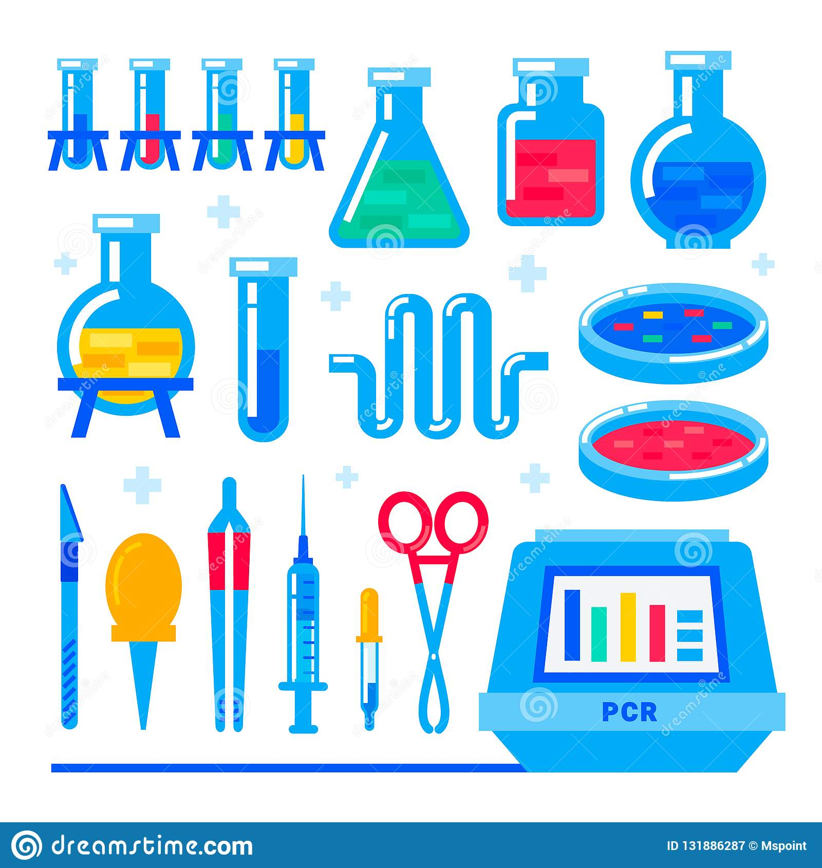 Nanotecnología y bioquímica Máquina de la polimerización en cadena de la reacción en cadena de polimerasa y equipo de laboratorio