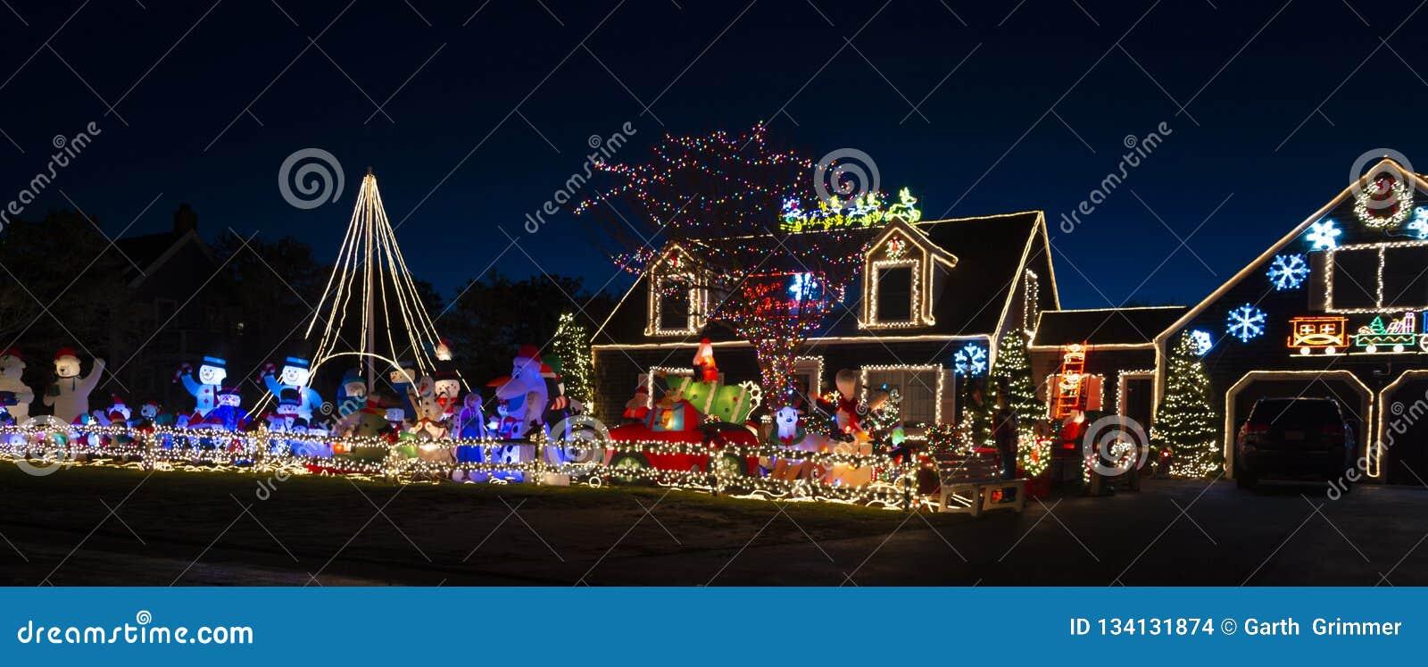 Nantucket-Weihnachtshausbeleuchtung