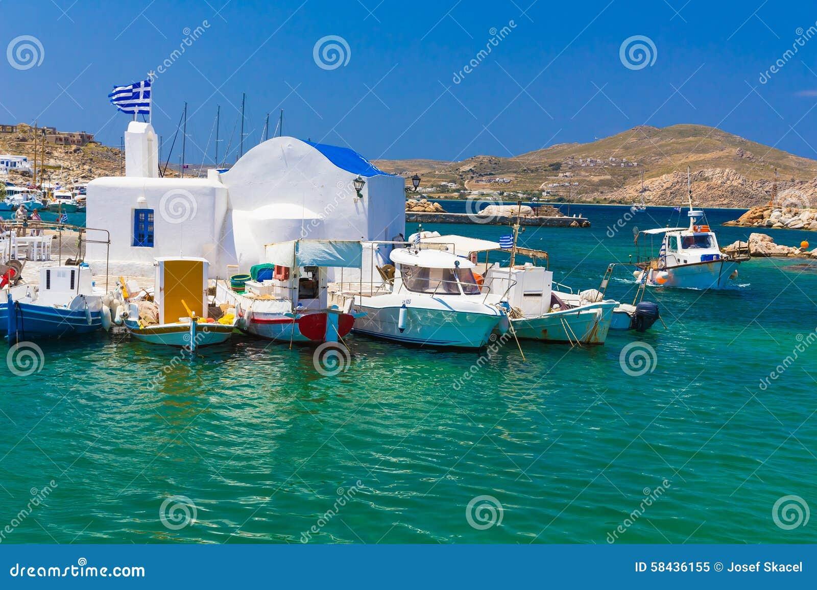 Naoussa town, Paros island, Cyclades, Aegean, Greece