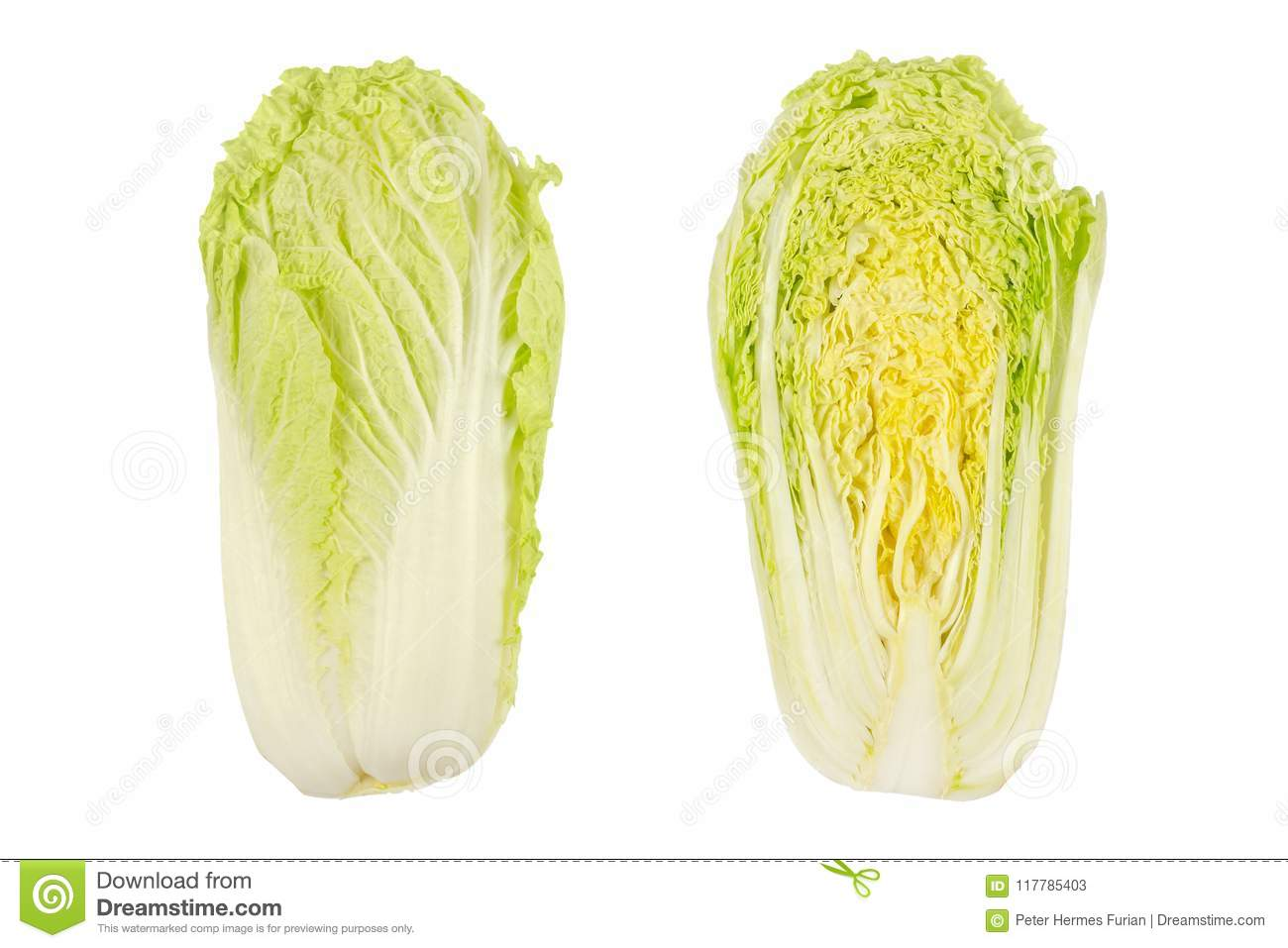Napa Cabbage Whole And Half Chinese Cabbage Top View Stock Image Image Of Uncooked Organic 117785403