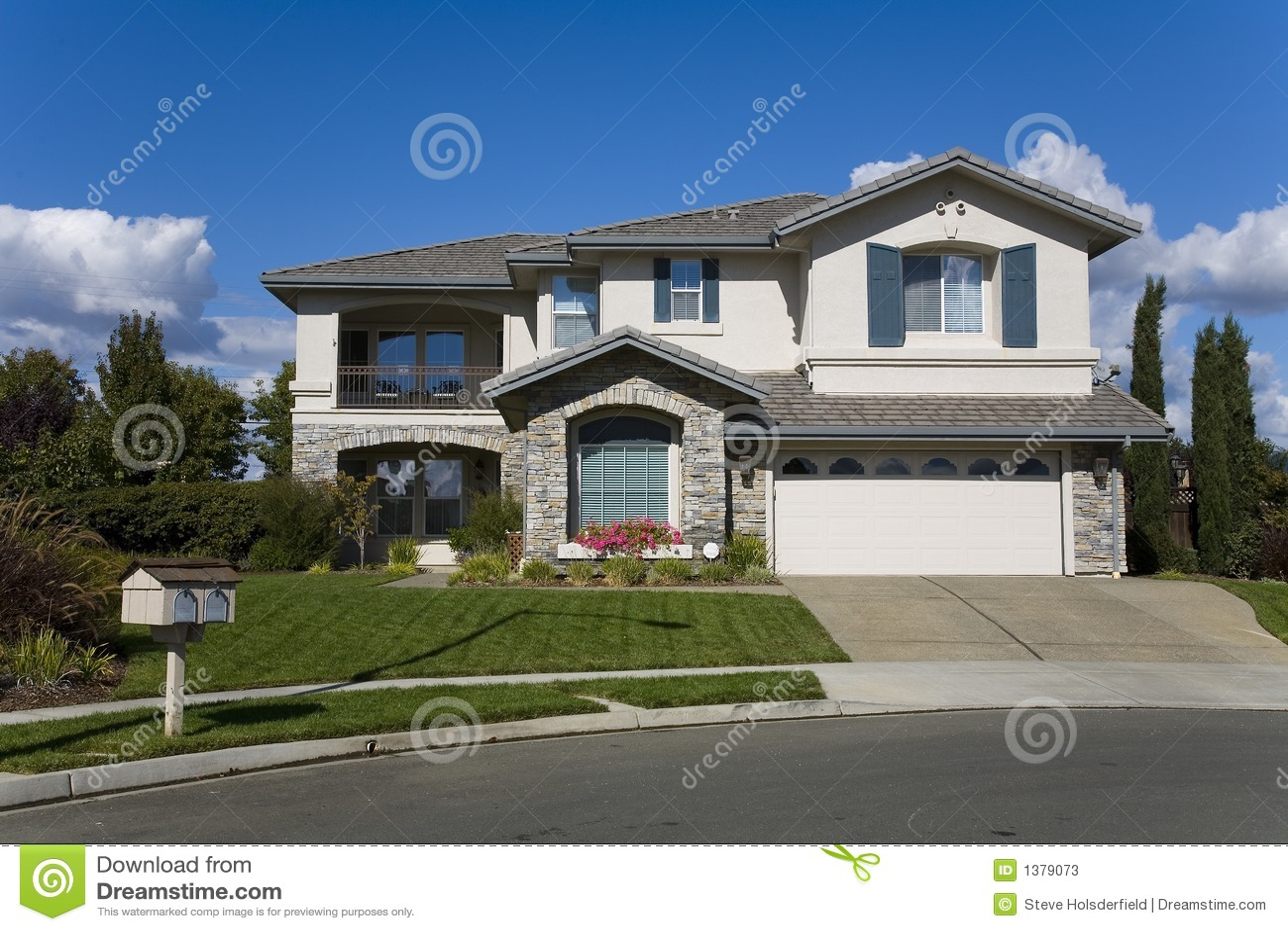 Napa County Ca Custom Home Stock Photos Image 1379073