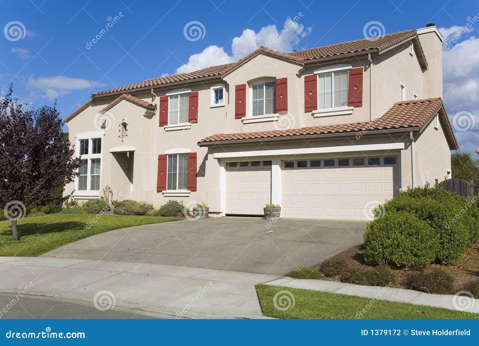 Napa County Ca Custom Home Stock Photography Image 1379172