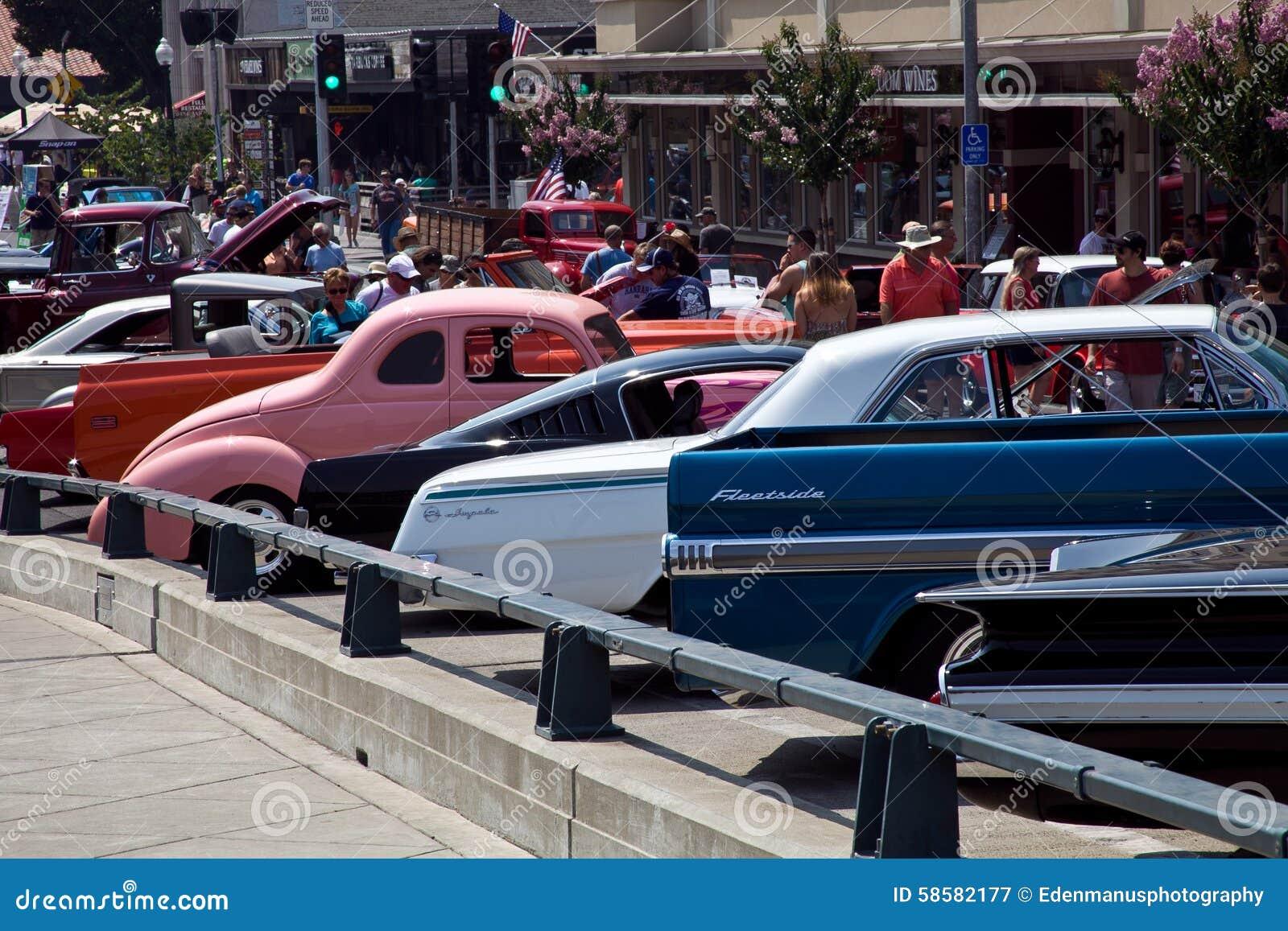 Napa Main St Reunion Car Show Editorial Photography Image Of - Main street car show
