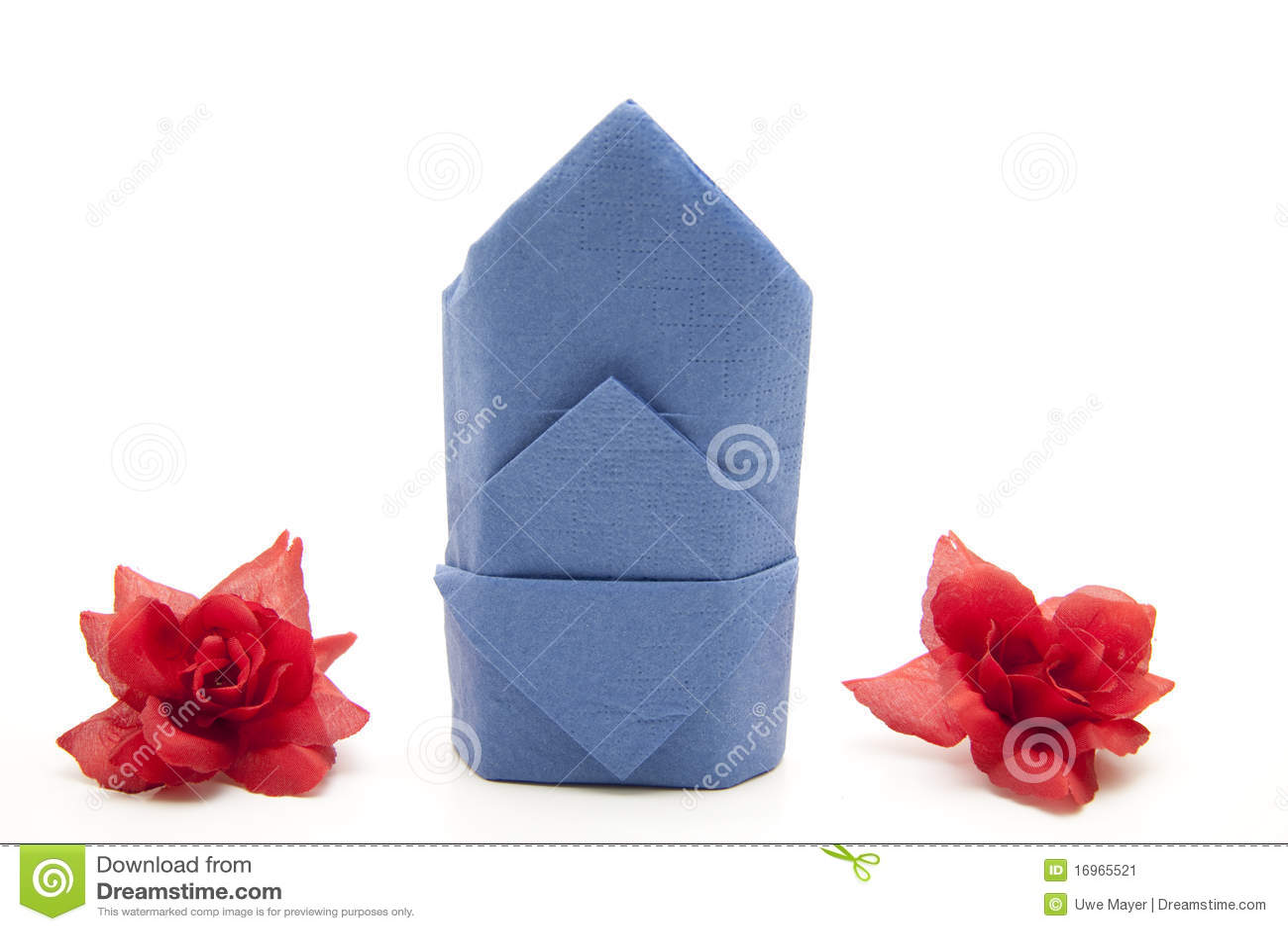 Napkin Folded With Rose Stock Image Image Of Folded 16965521