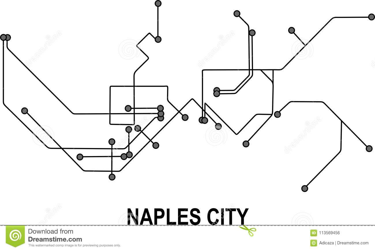 Naples City map stock vector Illustration of available 113569456