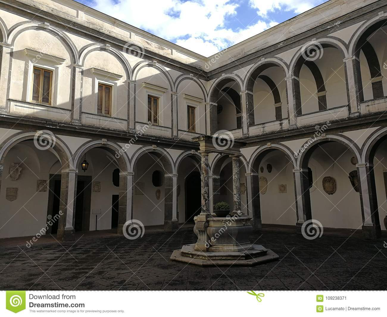 Naples Cloister Of The Procurators Stock Image Image Of Staircase February 109238371