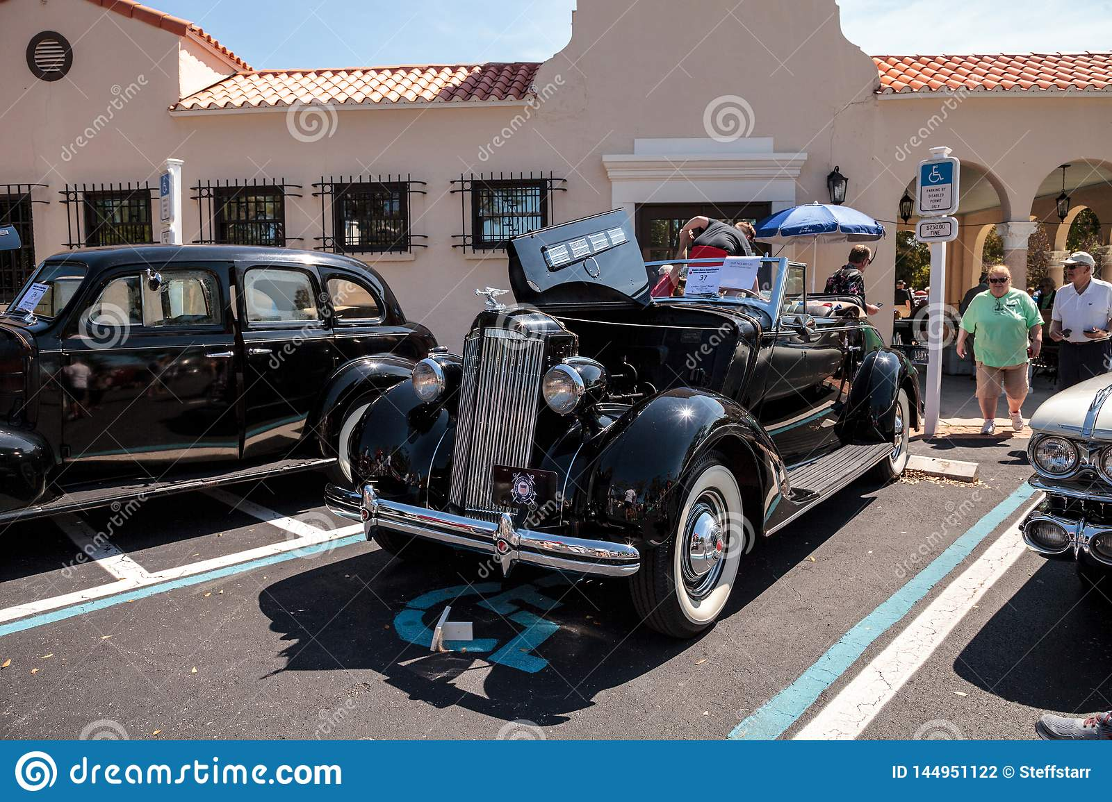 Naples Car Show >> Black 1937 Packard 120 At The 32nd Annual Naples Depot