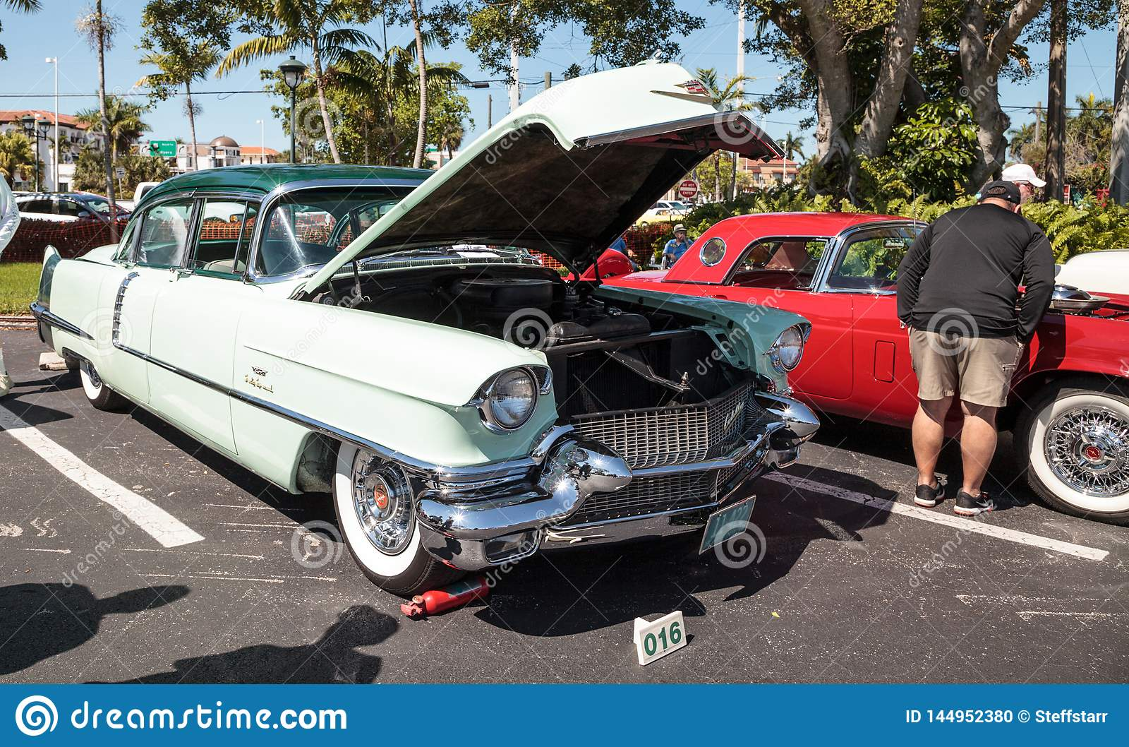 Naples Car Show >> Mint Green 1956 Cadillac At The 32nd Annual Naples Depot