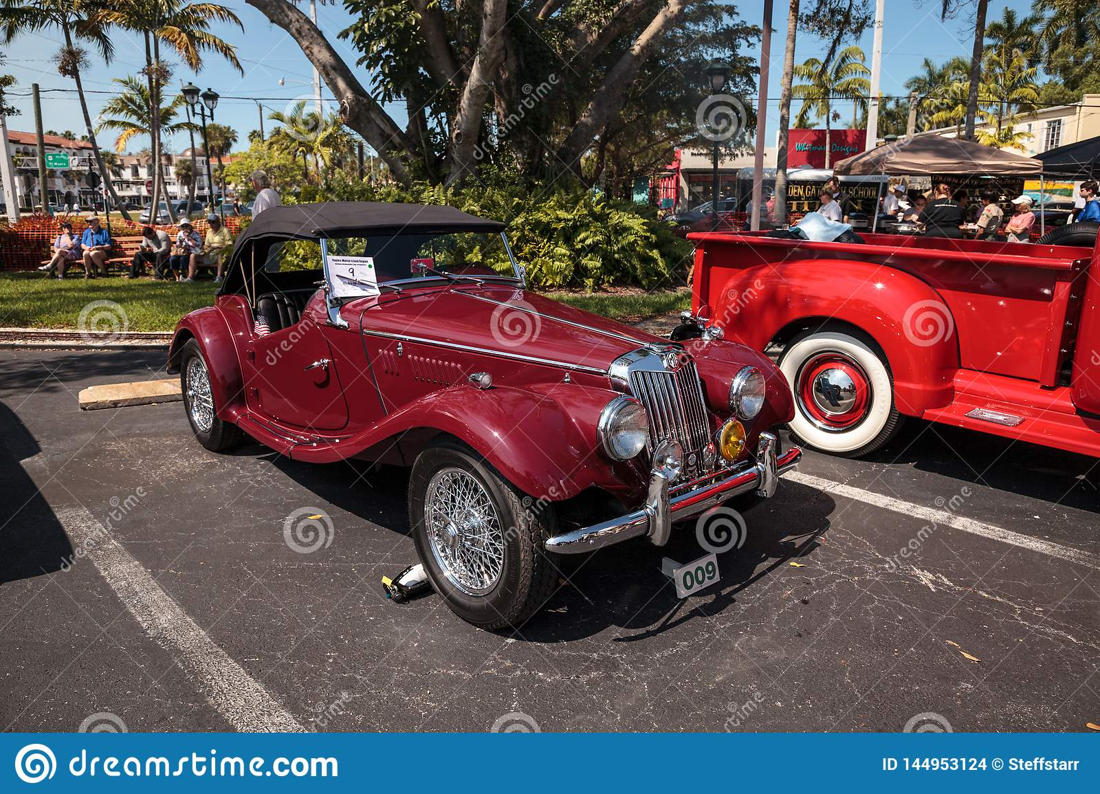 Red 1954 Mg Tf At The 32nd Annual Naples Depot Classic Car Show Editorial Stock Image Image Of Restoration Historical 144953124