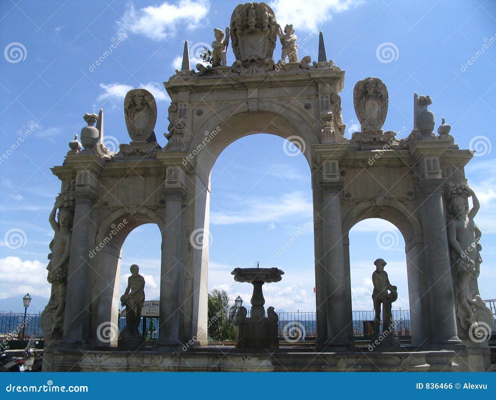 Naples, fountain