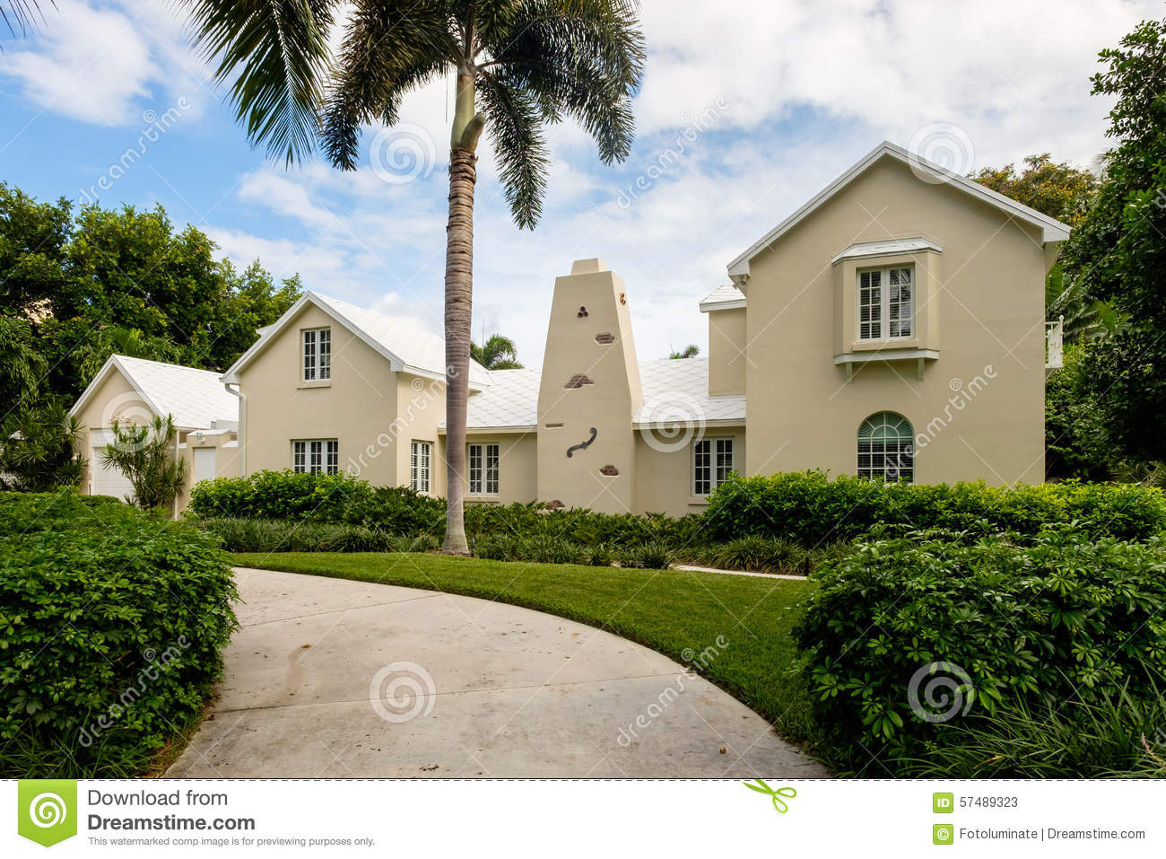 Naples home editorial stock photo image of house for Stucco styles
