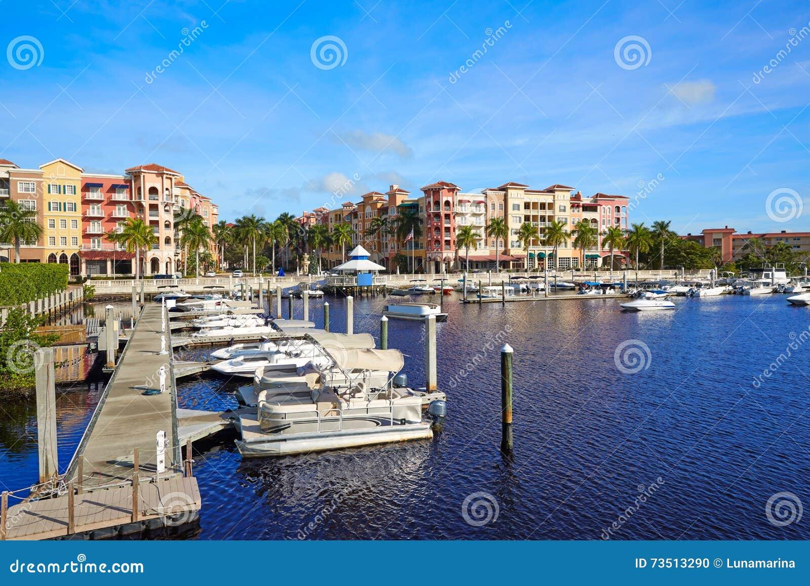 Naples zatoki marina w Florida usa