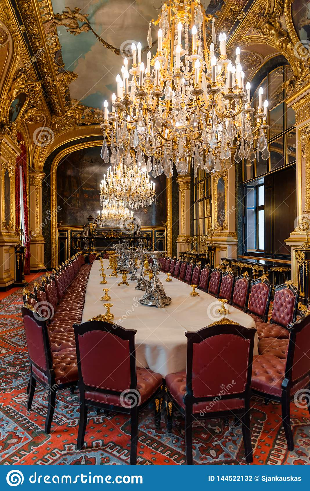 Napoleon III Apartments, State Dining Room Interior With ...