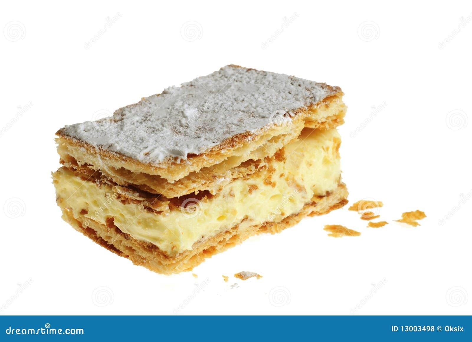 Napoleon Kuchen Stockfoto Bild Von Fett Krumen Saucer 13003498