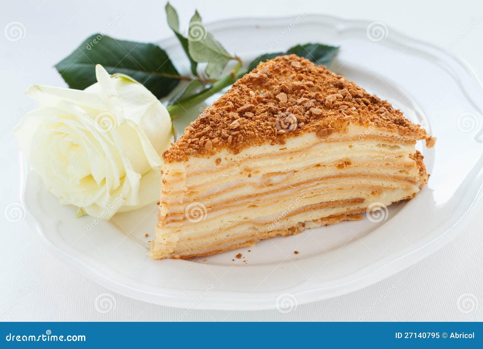 Napoleon Kuchen Stockbild Bild Von Empfindlich Scheibe 27140795