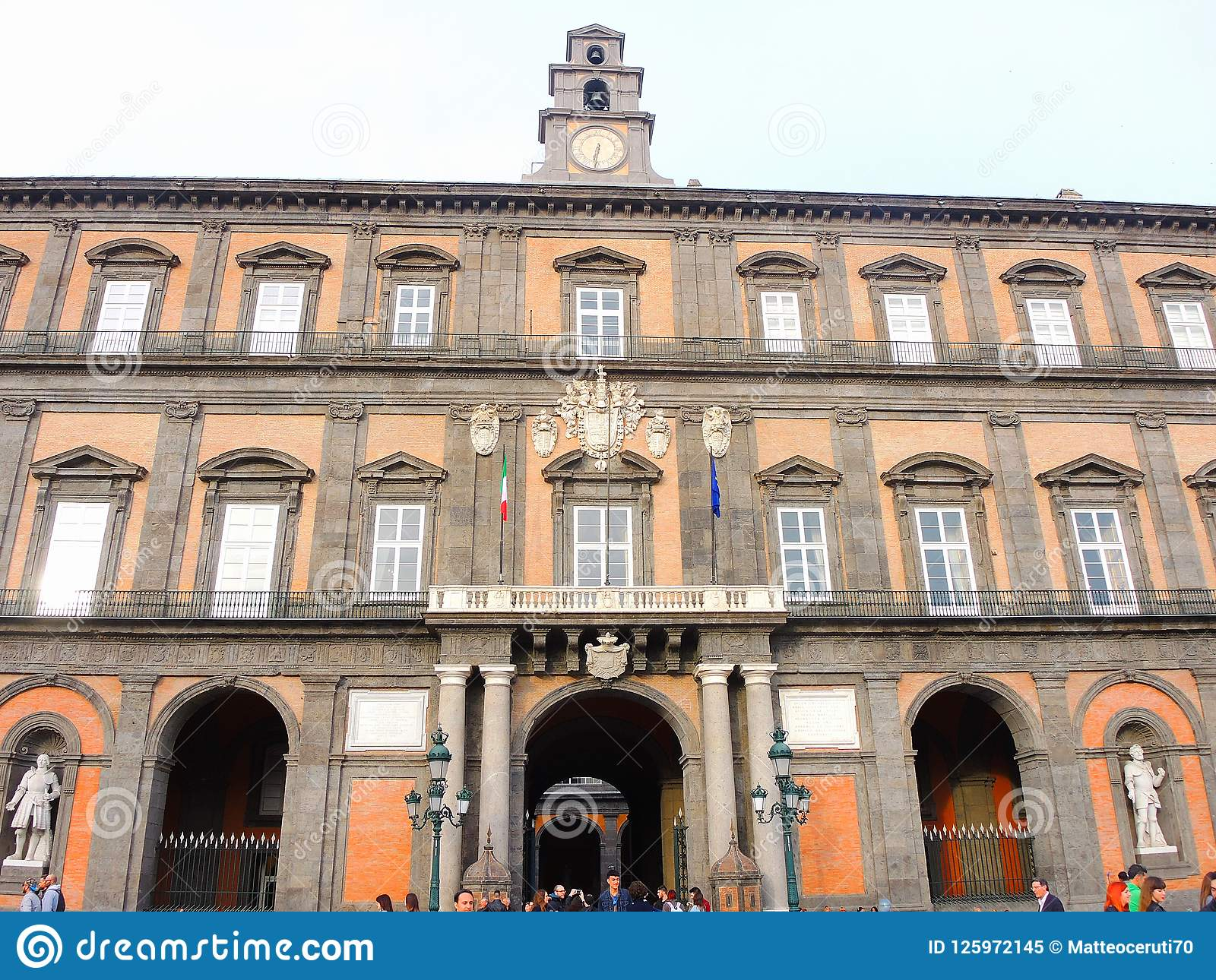 Napoli της Ιταλίας Τοπίο στη διάσημη Royal Palace της Νάπολης