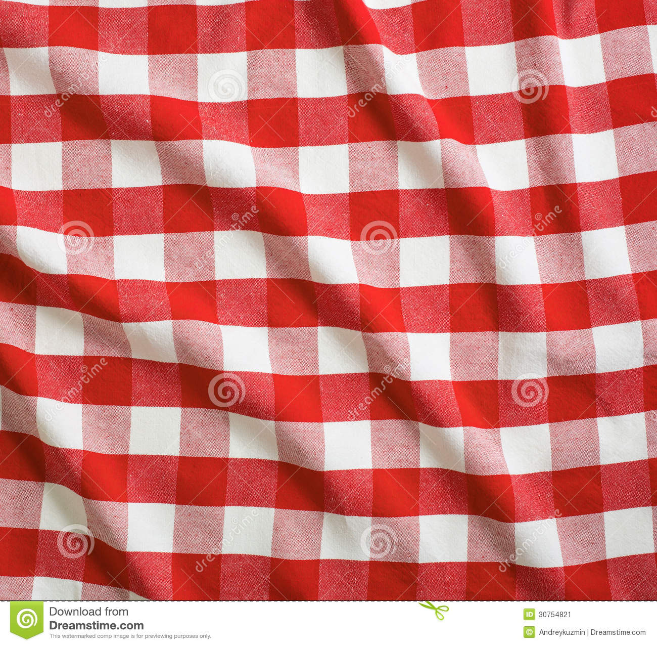 Nappe Bois Et Chiffon : Red and White Picnic Tablecloth