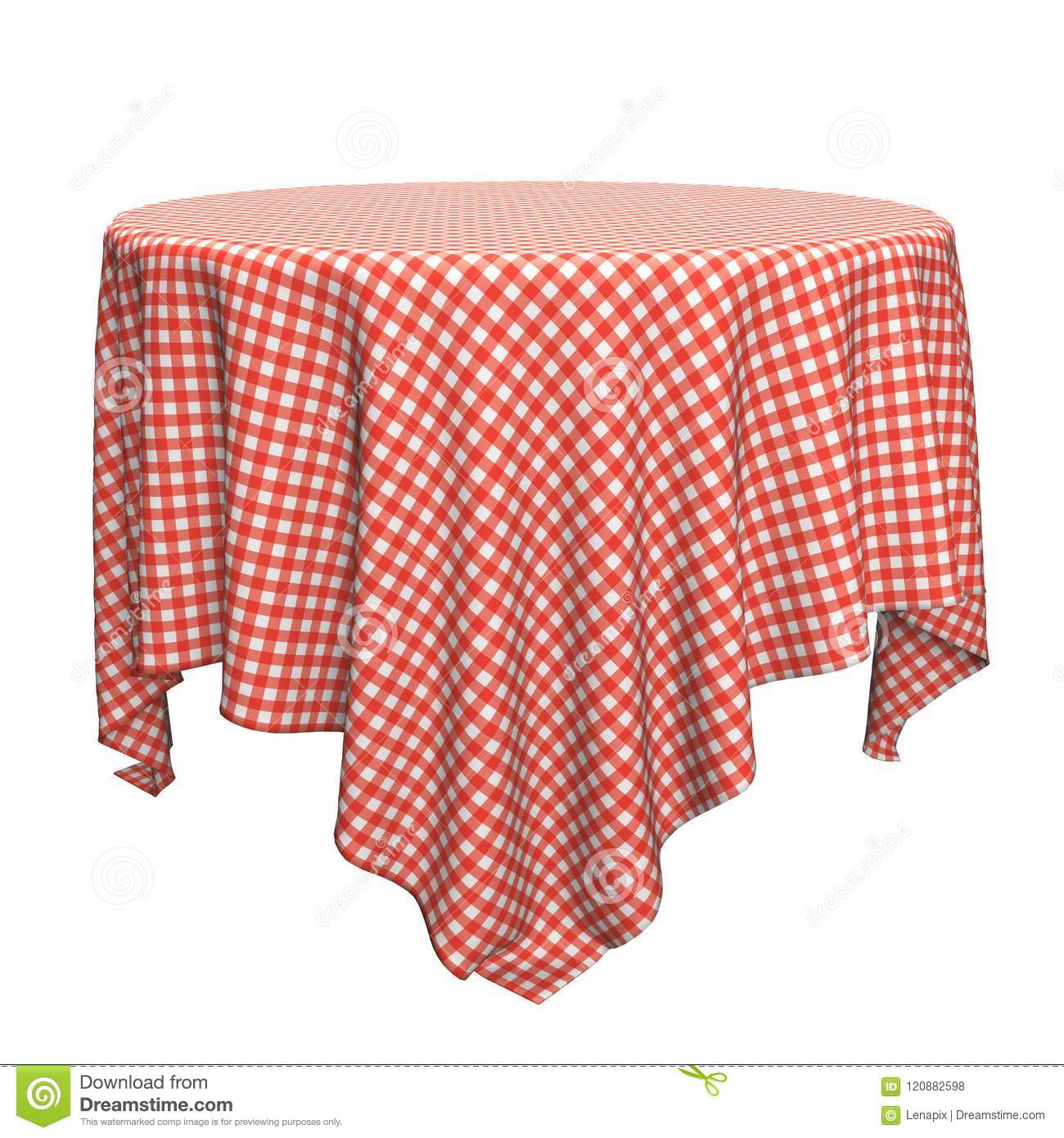 Nappe Ronde Blanche Et Rouge Illustration Stock Illustration Du