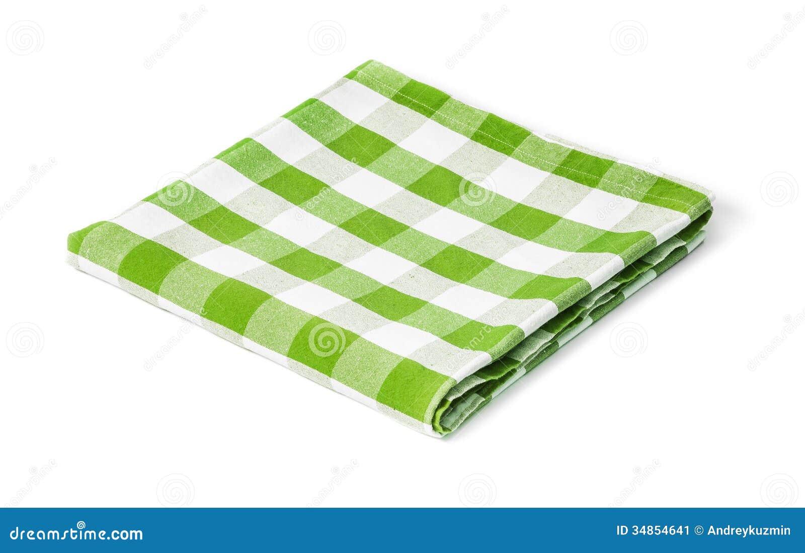 nappe verte de pique nique d isolement image stock image 34854641