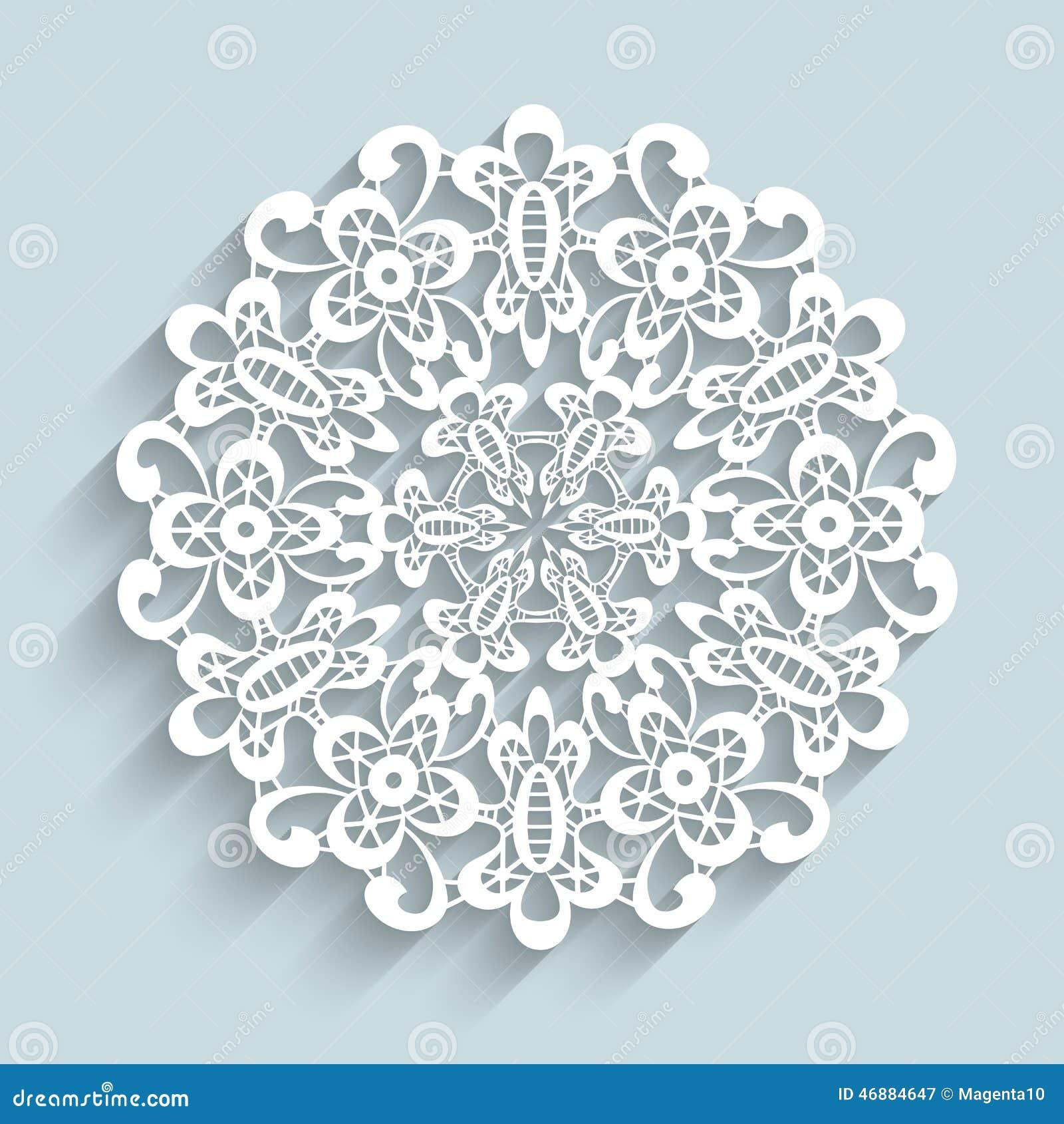 Napperon de papier de dentelle illustration de vecteur image 46884647 - Napperon dentelle crochet ...