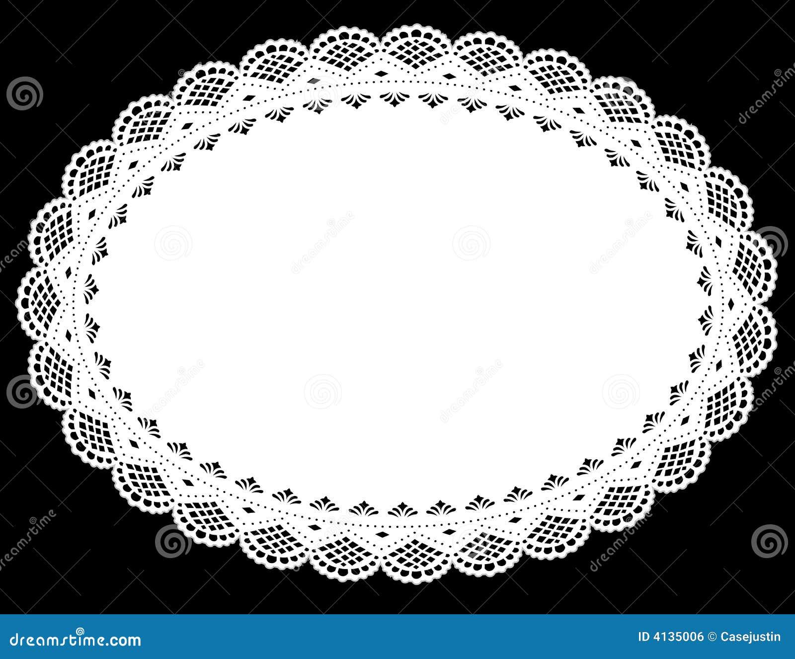 Napperon ovale de lacet (vecteur de jpg+)